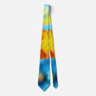 Orange Flower Tie