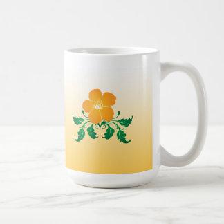 Orange Flower: Vector Drawing: Coffee Mug