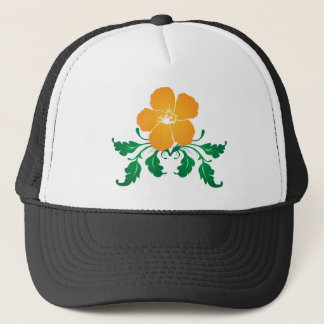 Orange Flower: Vector Drawing: Trucker Hat