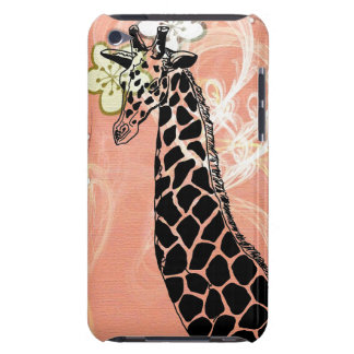Orange Flowered Giraffe II - iPod Touch Case Case-Mate iPod Touch Case