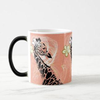 Orange Flowered Giraffe II ~ Morphing Mug