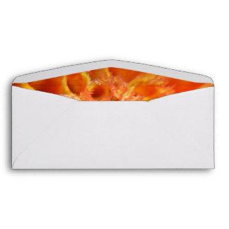Orange Flowers 9 mf Envelopes