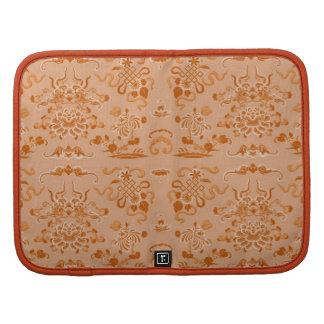 Orange Flowers and Shapes Folio Planners