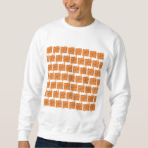 Orange flowers and squares pattern. sweatshirt