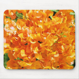 orange flowers background mouse pad