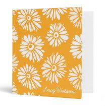 Orange Flowers Binder