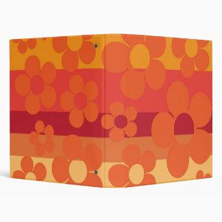 Orange Flowers Vinyl Binders