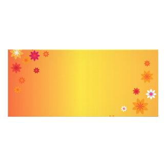 Orange Flowers Book Mark Rack Cards