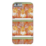 Orange Flowers by Alphonse Mucha Barely There iPhone 6 Case