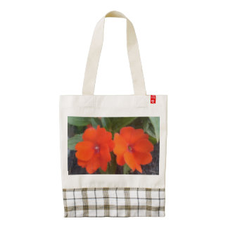 Orange Flowers Canvass Art Zazzle HEART Tote