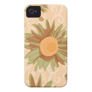 Orange Flowers iPhone 4 Cover