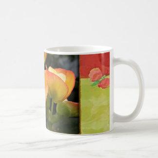 Orange Flowers Classic White Coffee Mug