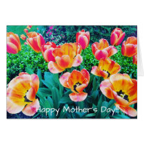 Orange Flowers Happy Mother's Day Card
