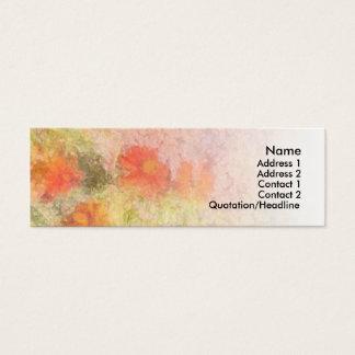 Orange Flowers Impressionist Blend Mini Business Card