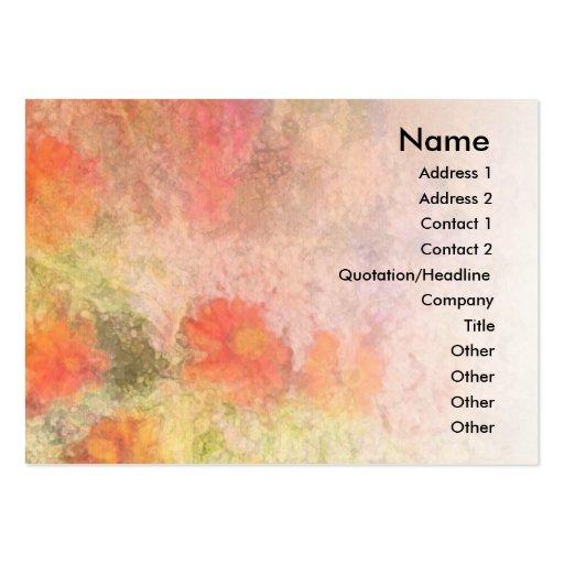 Orange Flowers Impressionist Blend Profile Card Business Card Templates