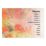 Orange Flowers Impressionist Blend Profile Card Business Card Templates