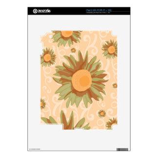Orange Flowers iPad 2 Skin