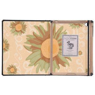 Orange Flowers iPad Folio Cases