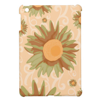 Orange Flowers iPad Mini Cases