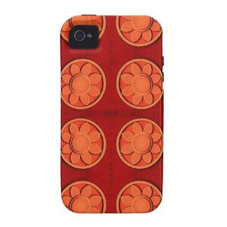 Orange Flowers iPhone 4 Case