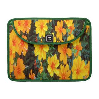 Orange Flowers Sleeve For MacBook Pro
