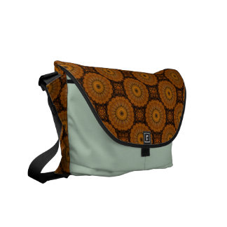Orange Flowers Messenger Bag