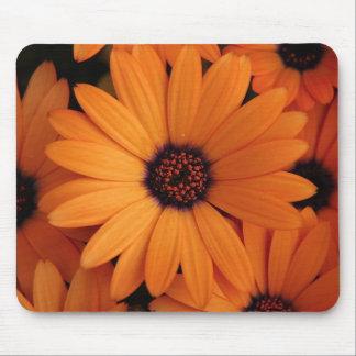 Orange Flowers Mouse Pad