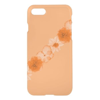 Orange Flowers of Autumn iPhone 7 Case