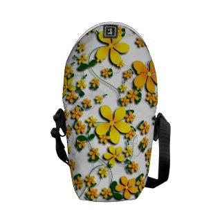 Orange Flowers on Your Favorite Color Messenger Bags