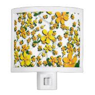 Orange Flowers on Your Favorite Color Night Lite