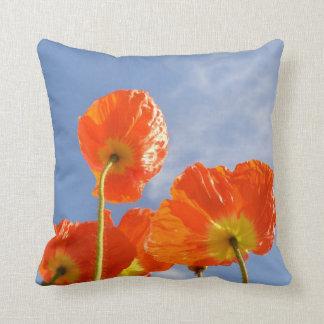 Orange Flowers Pillow