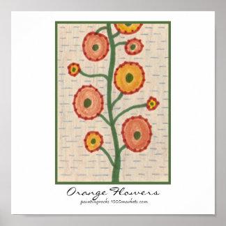 Orange Flowers Posters