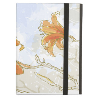 Orange Flowers Powis iCase iPad Case