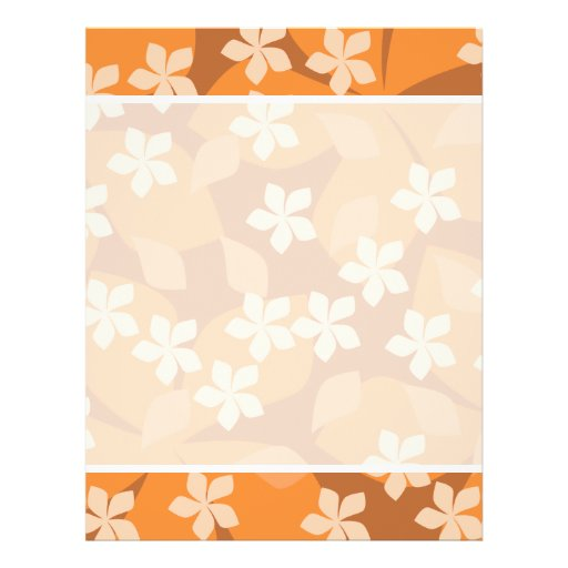 "Orange Flowers. Retro Floral Pattern. 8.5"" X 11"" Flyer"