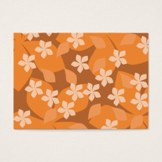 Orange Flowers. Retro Floral Pattern. Business Card