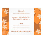 Orange Flowers. Retro Floral Pattern. Invite