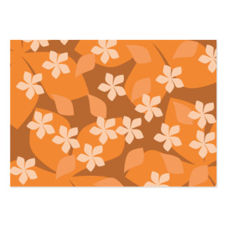 Orange Flowers. Retro Floral Pattern. Large Business Cards (Pack Of 100)