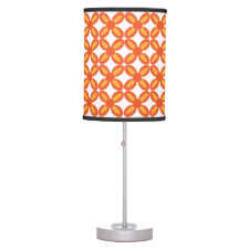 Orange Flowers Table Lamp