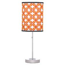 Orange Flowers Table Lamp