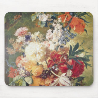 Orange Flowers with Butterfly, Flemish flowers Mouse Pad