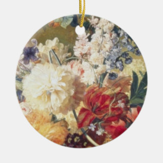 Orange Flowers with Butterfly Flemish flowers Ornaments