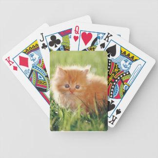 Orange Fluffy Persian Kitten Cat Playing Cards
