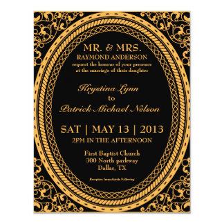 Orange Fluorescent / Neon Wedding Invitations