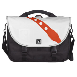 Orange Flute Musical Instrument Icon Bags For Laptop