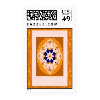 Orange Flying Magic Carpet Postage Stamps