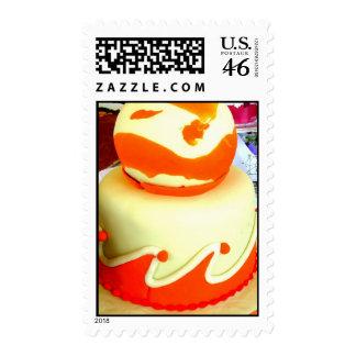 Orange fondant postage