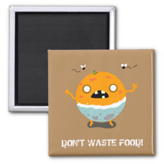 Orange Food Zombie Magnet