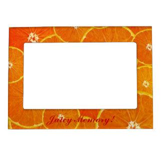 Orange Foodies Juicy Memory Magnetic Photo Frame
