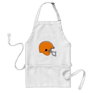 Orange Football Helmet Adult Apron