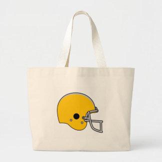Orange football helmet bags